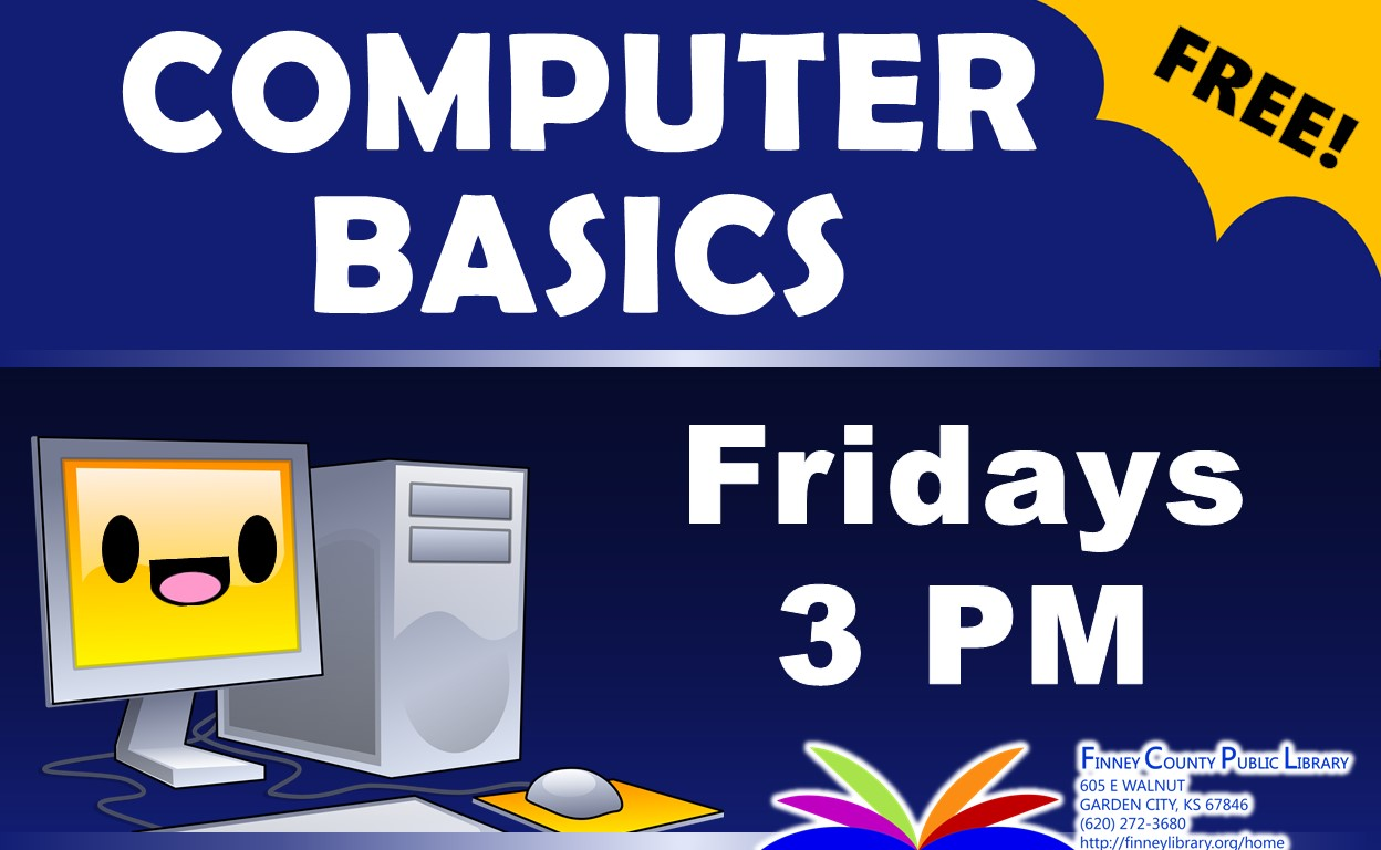 Computer basics, Fridays at 3pm