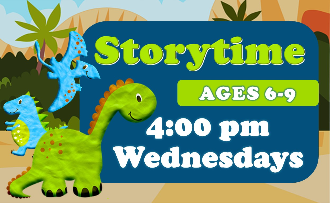 Storytime, Wednesdays, 4pm, Ages 6-9