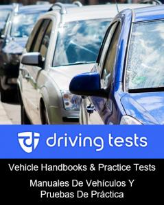 Vehicle handbooks and practice tests in English and Spanish. Manuales de vehículos y pruebas de práctica en inglés y español.