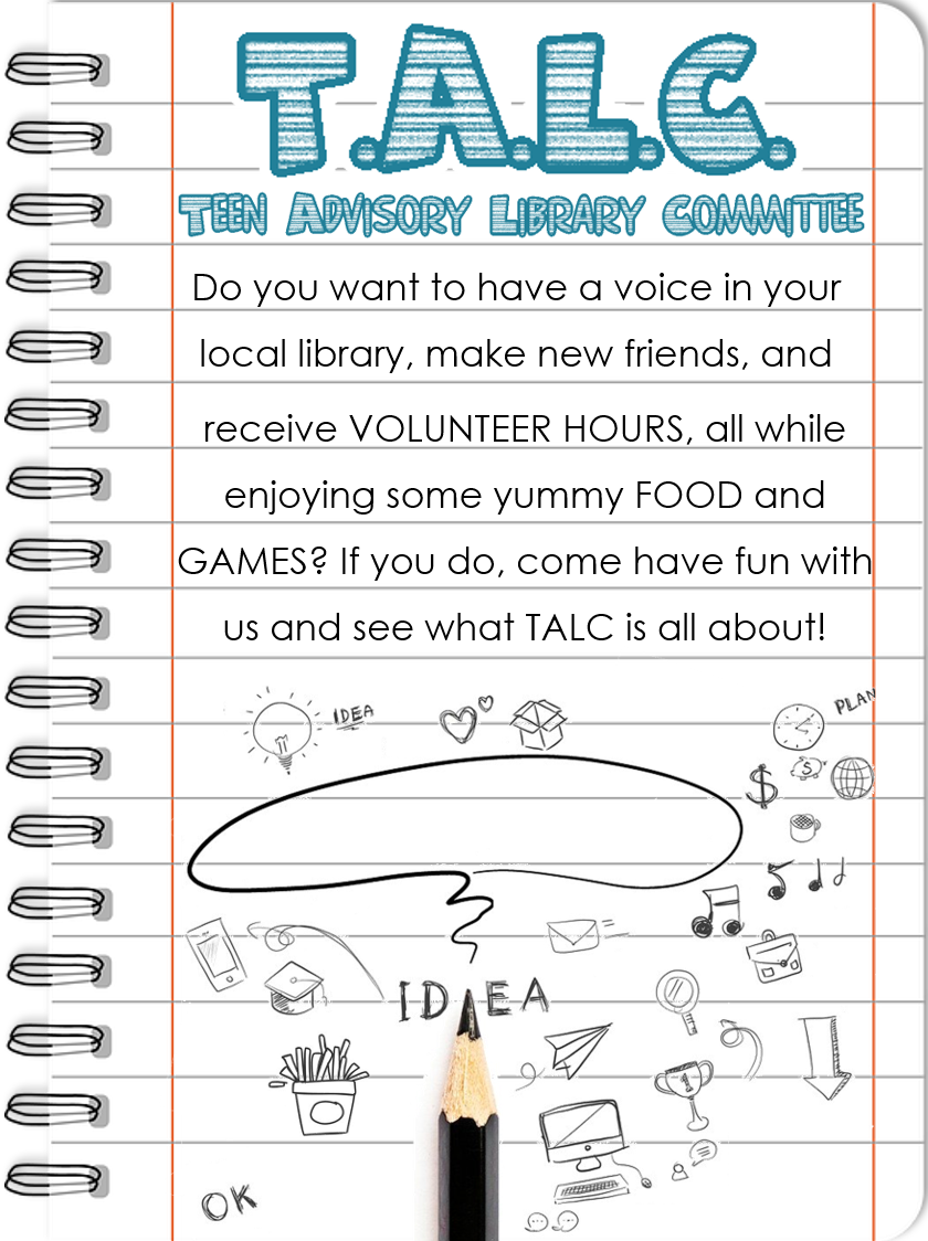 Join the Teen Advisory Library Committee!